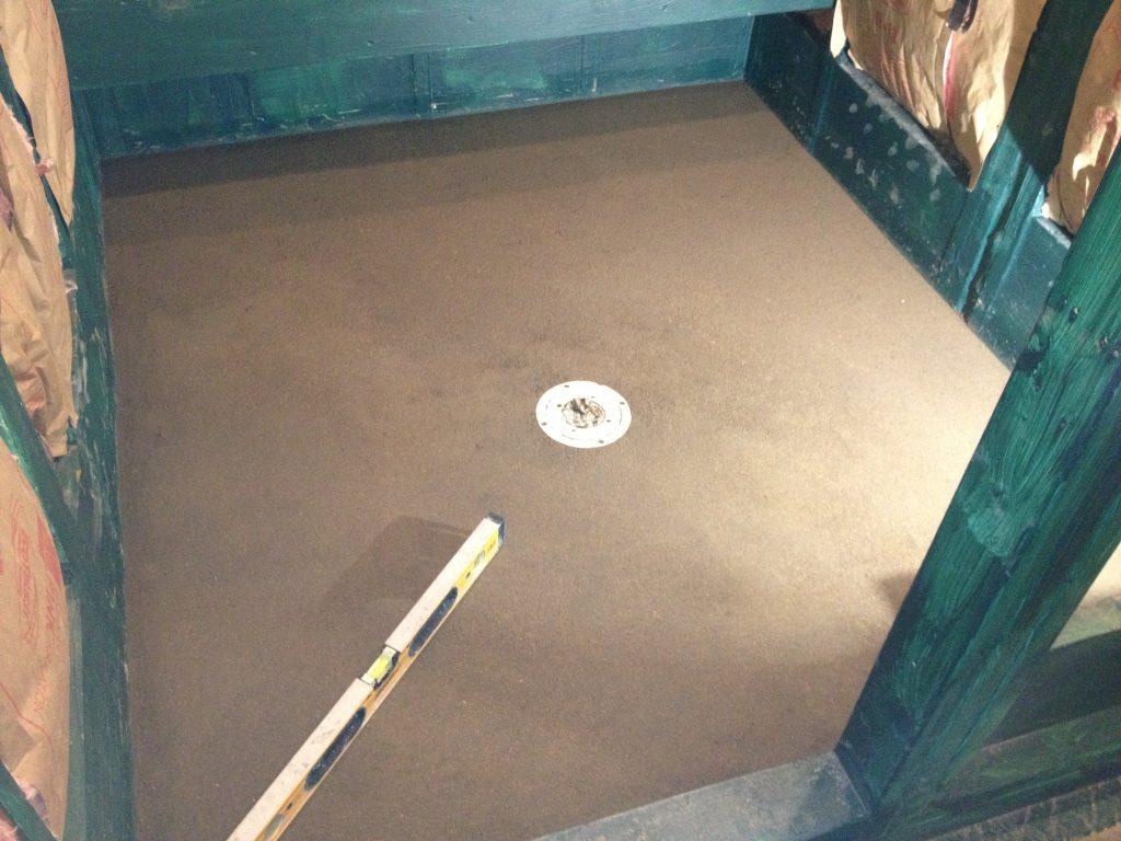 Custom Walk in Shower -Pre slope - bathroom remodeling austin tx