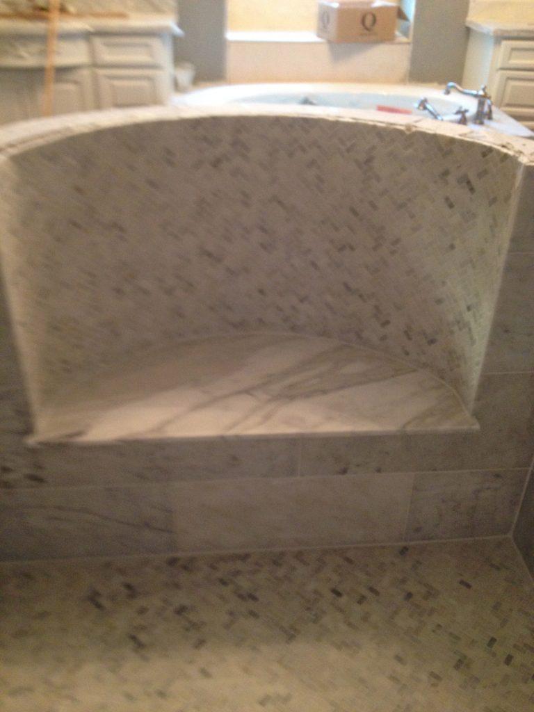 Carrara Marble Victorian Bathroom Remodel - Austin Tx