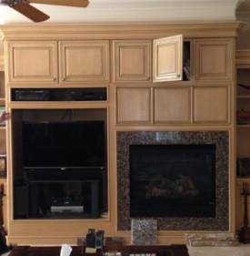 West Lake Hills / Lakeway / Austin Tx fireplace remodel before