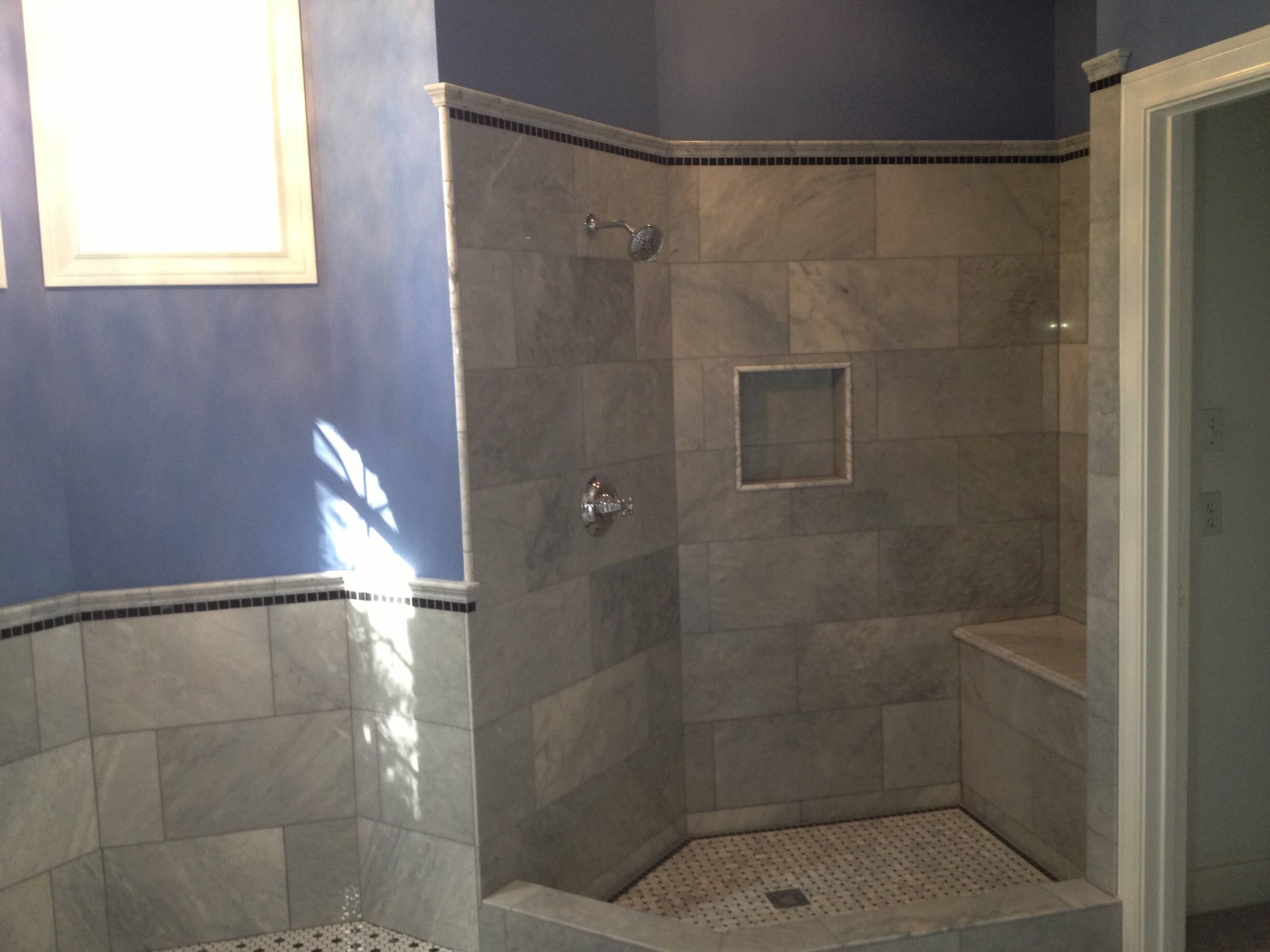 Victorian Carrara Marble Bathroom Remodeling Project in ...