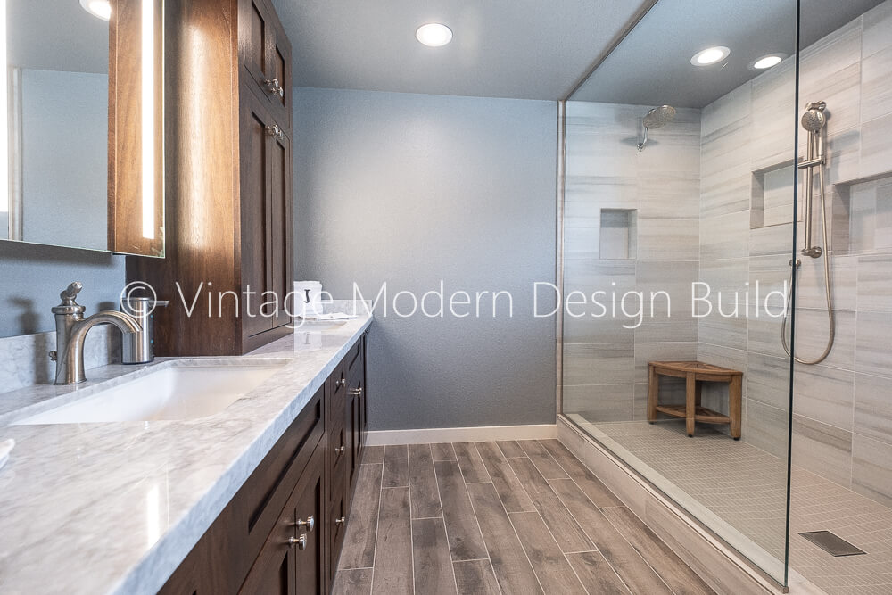 Walk in Shower Austin Rustic Modern Bathroom Remodeling Contractor