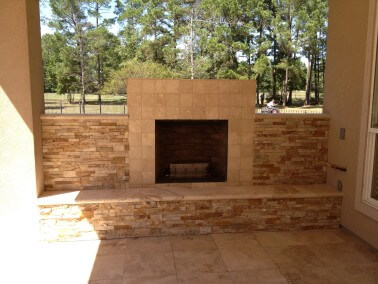 Custom Outdoor Fireplace in West Lake HIlls / Lakeway / Austin Tx