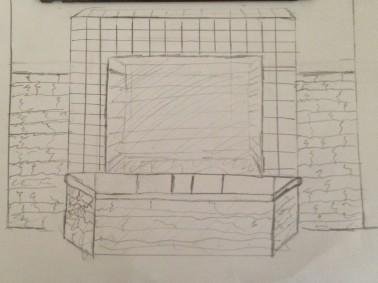 Outdoor fireplace plans West Lake HIlls / Lakeway / Austin Tx