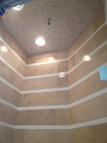 Thassos Stripe Shower West Lake HIlls / Lakeway / Austin Tx