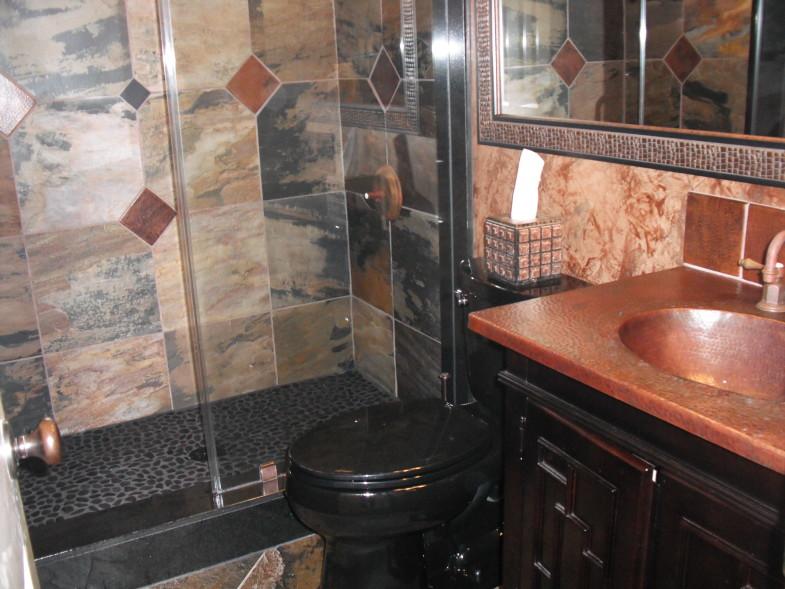 Modern Slate Bathroom Remodel in West Lake HIlls / Lakeway / Austin Tx