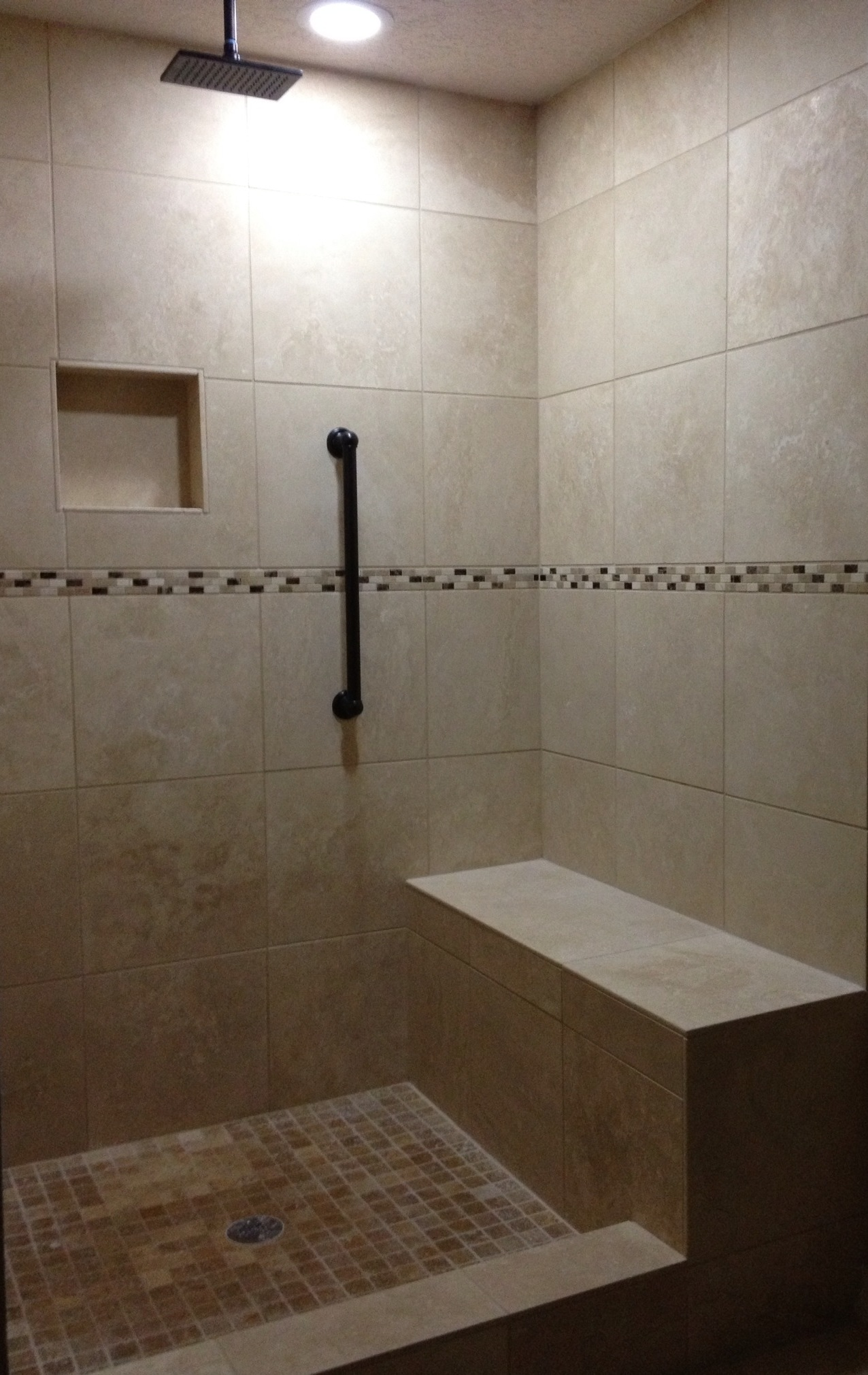 Travertine Tub To Shower Conversion In Austin Tx Vintage