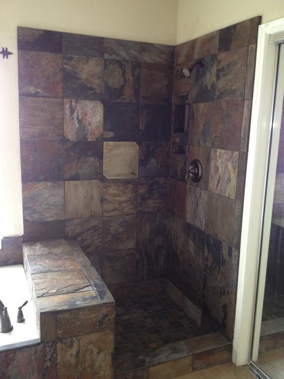 Slate Bathroom Remodeling project in Austin Tx - Vintage ...