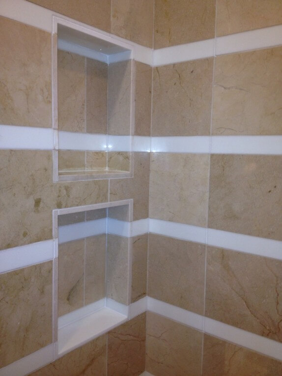 Bathroom Remodel In West Lake Hills Tx Shampoo Niche