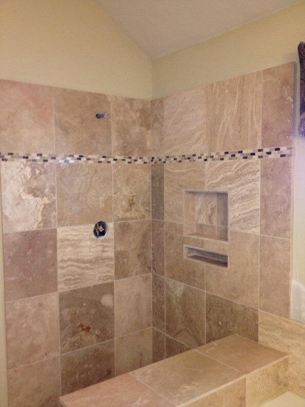 Travertine Bathroom Remodel in Austin Tx