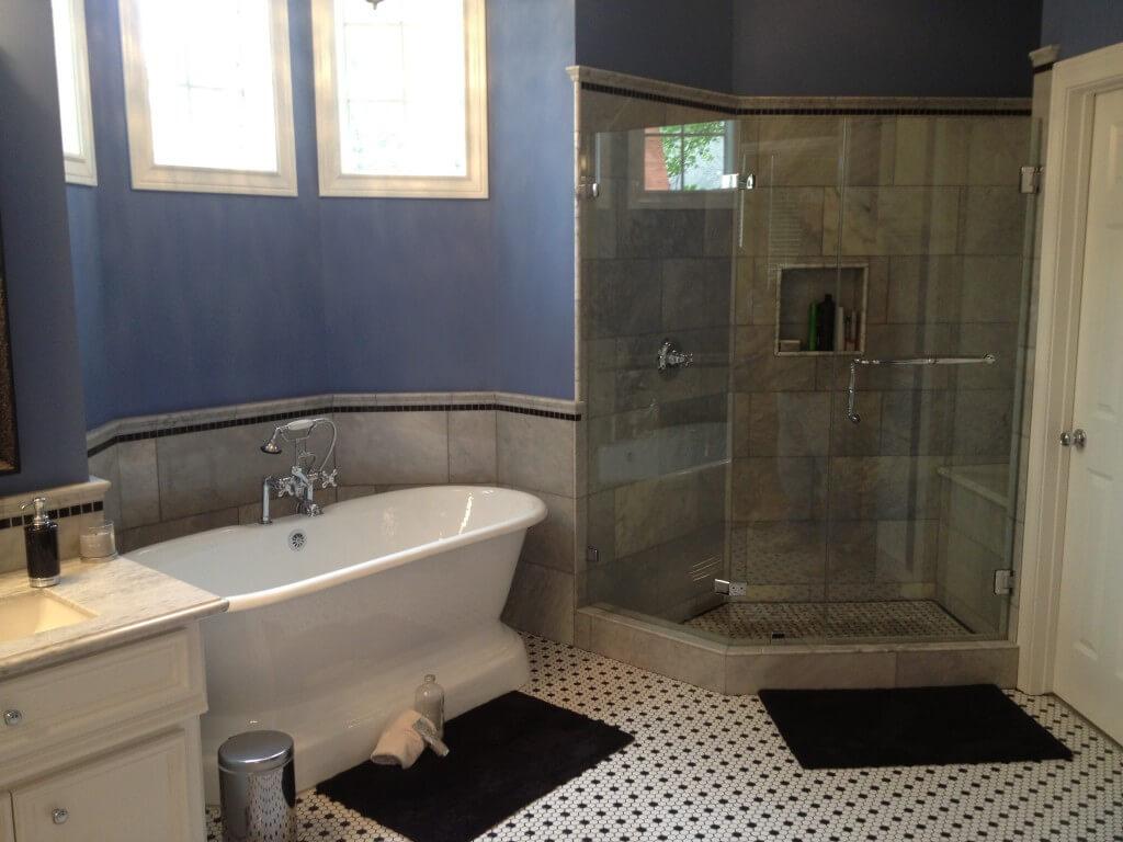 Victorian Carrara Marble Shower Bathroom Remodel in West Lake HIlls / Lakeway / Austin Tx