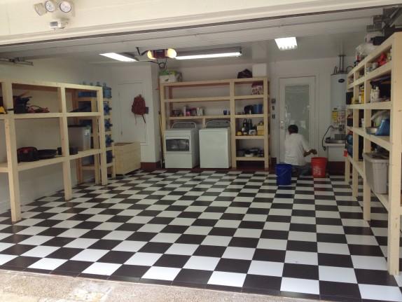 Garage Floor Tile & Custom Garage Cabinets in West Lake HIlls / Lakeway / Austin Tx