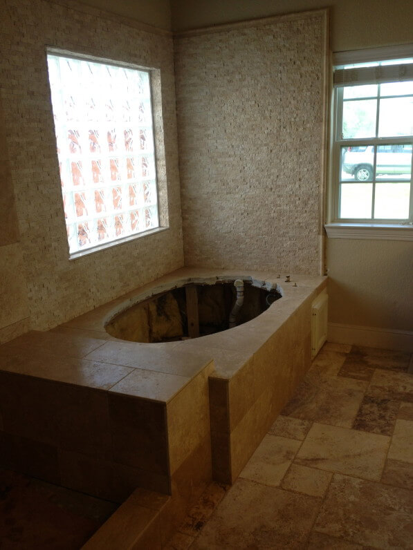 Travertine Bathroom Remodeling in The Woodlands Tx