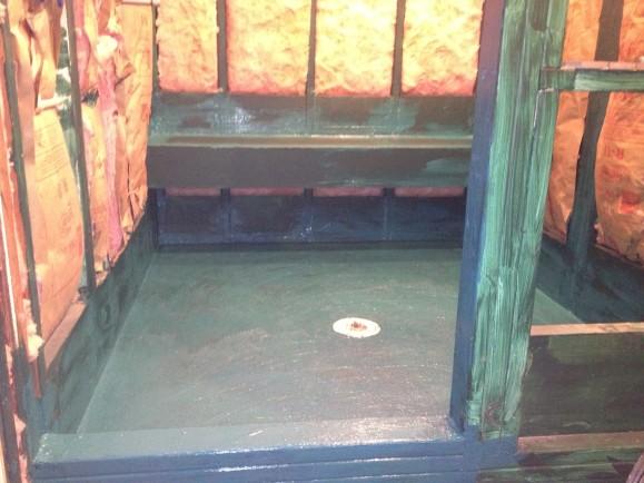 Limestone Preslope treated bathroom remodel in West Lake HIlls / Lakeway / Austin Tx