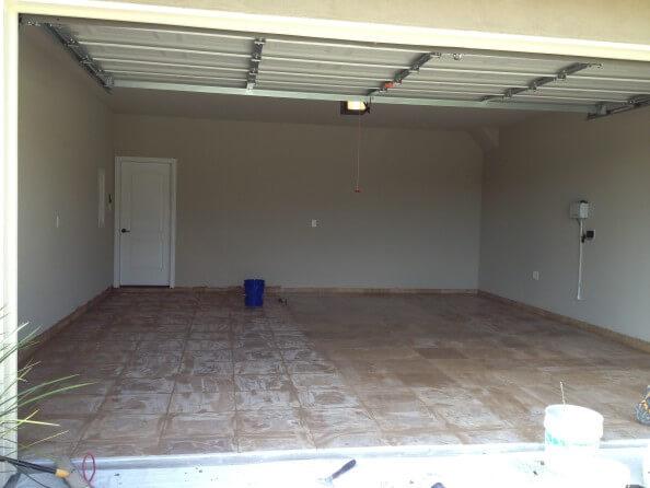 Travertine Garage Remodel in West Lake HIlls / Lakeway / Austin Tx