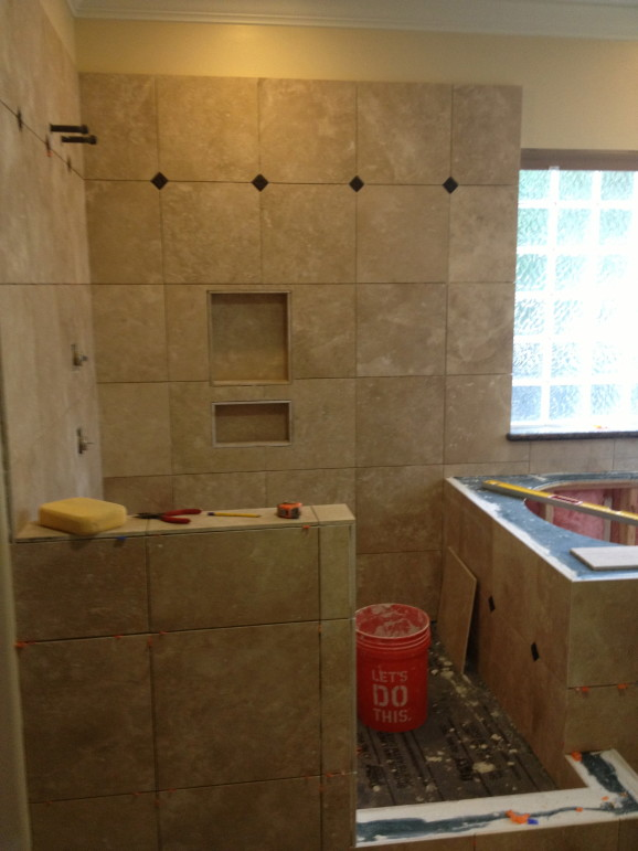 Magnolia Tx Travertine Bathroom Remodel West Lake HIlls / Lakeway / Austin Tx