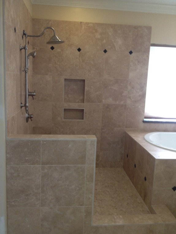 Travertine Bathroom Remodel in West Lake HIlls / Lakeway / Austin Tx