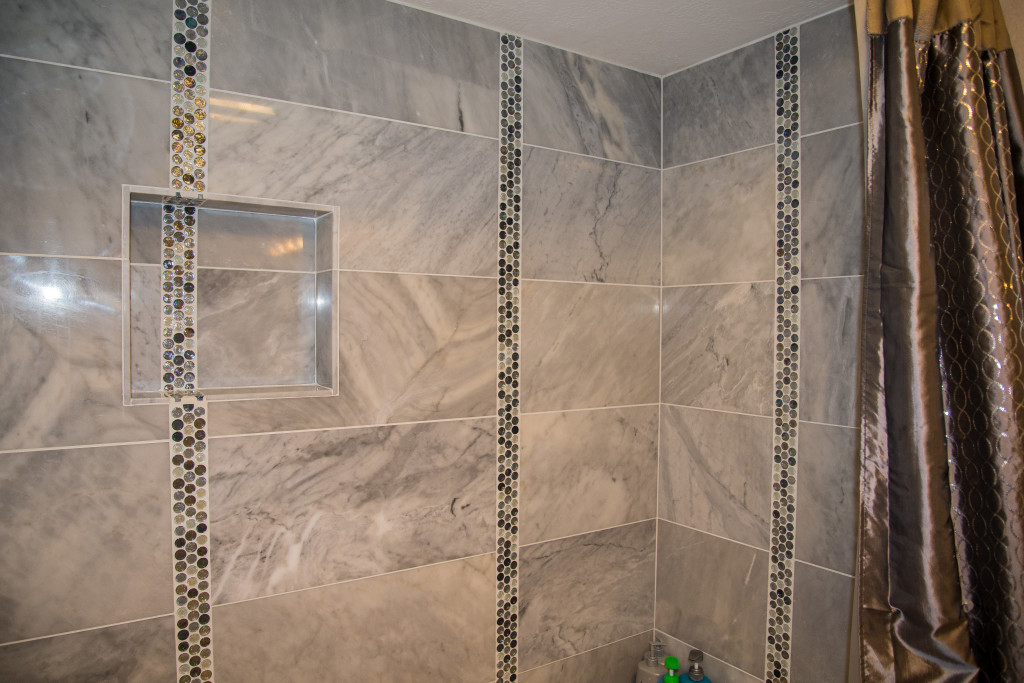 Minimalist Modern Carrara Bianca Bathroom remodel in Austin Tx