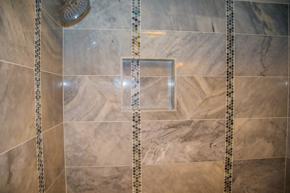 marble shower remodeling project in West Lake HIlls / Austin Tx