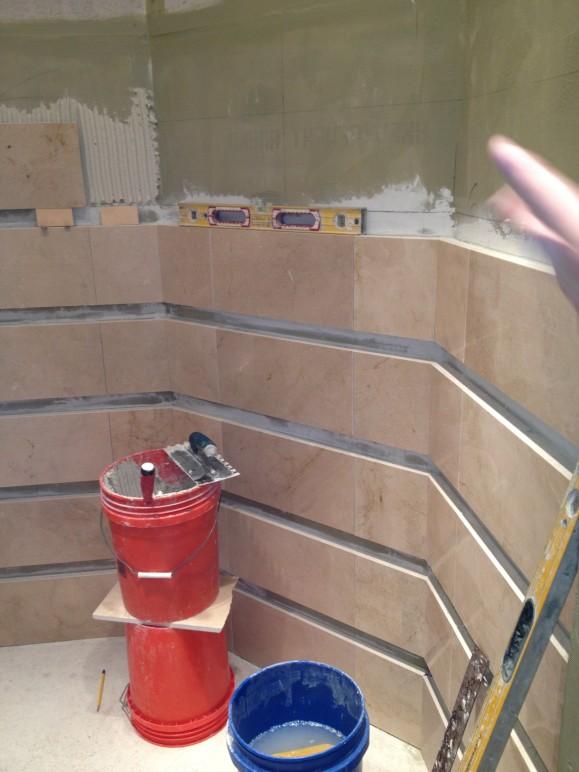 Marble bathroom remodel in Lakeway / Austin Tx
