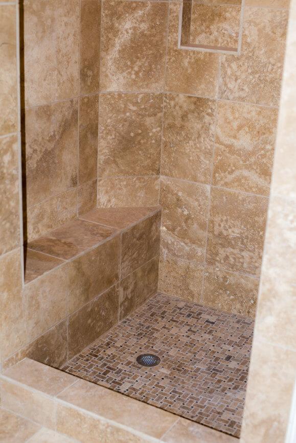 Travertine Bathroom Remodeling Project In Austin Tx Vintage Modern Design Build Texas