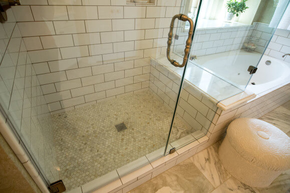 Calacatta Gold Marble Bathroom Remodeling Project Lakeway / Austin Tx