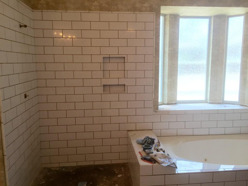 Victorian Bathroom Remodel in Austin Subway Tile