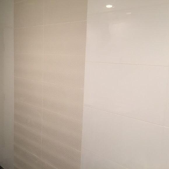 White Modern Bathroom Remodel in Austin, Tx