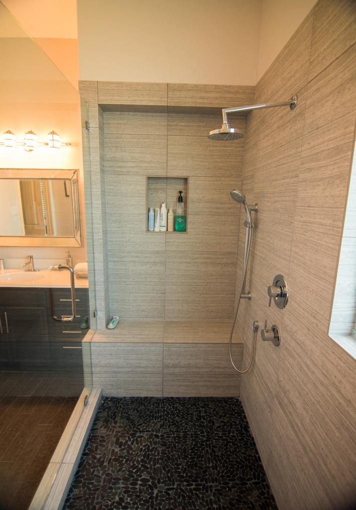 Rustic Modern Bathroom Remodeling Lakeway Tx / Austin Tx by Vintage Modern Design Build