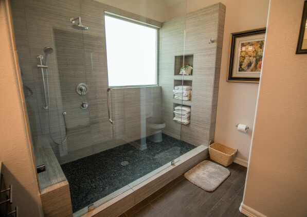 Rustic Modern Bathroom Remodeling Project Lakeway Tx / Austin Tx by Vintage Modern Design Build