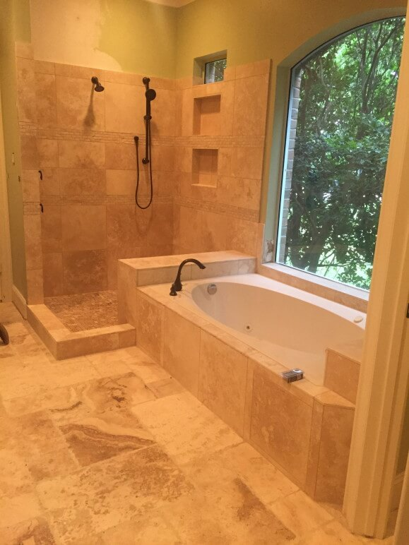 Travertine Bathroom Remodeling Contractor in Austin Tx