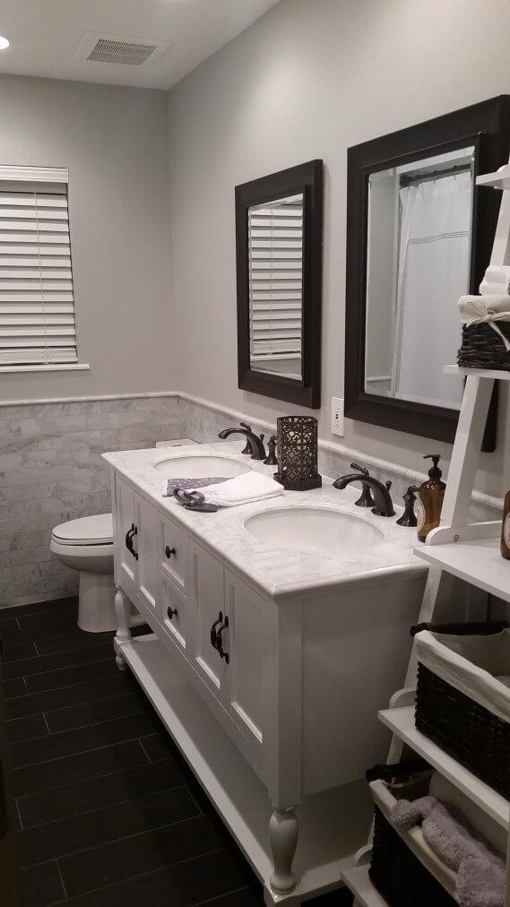 Victorian Guest Bathroom Remodeling Austin Tx by Vintage Modern Design Build
