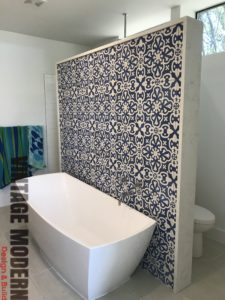 Mid Century Modern Bathroom remodeling project shower contractor Austin TX