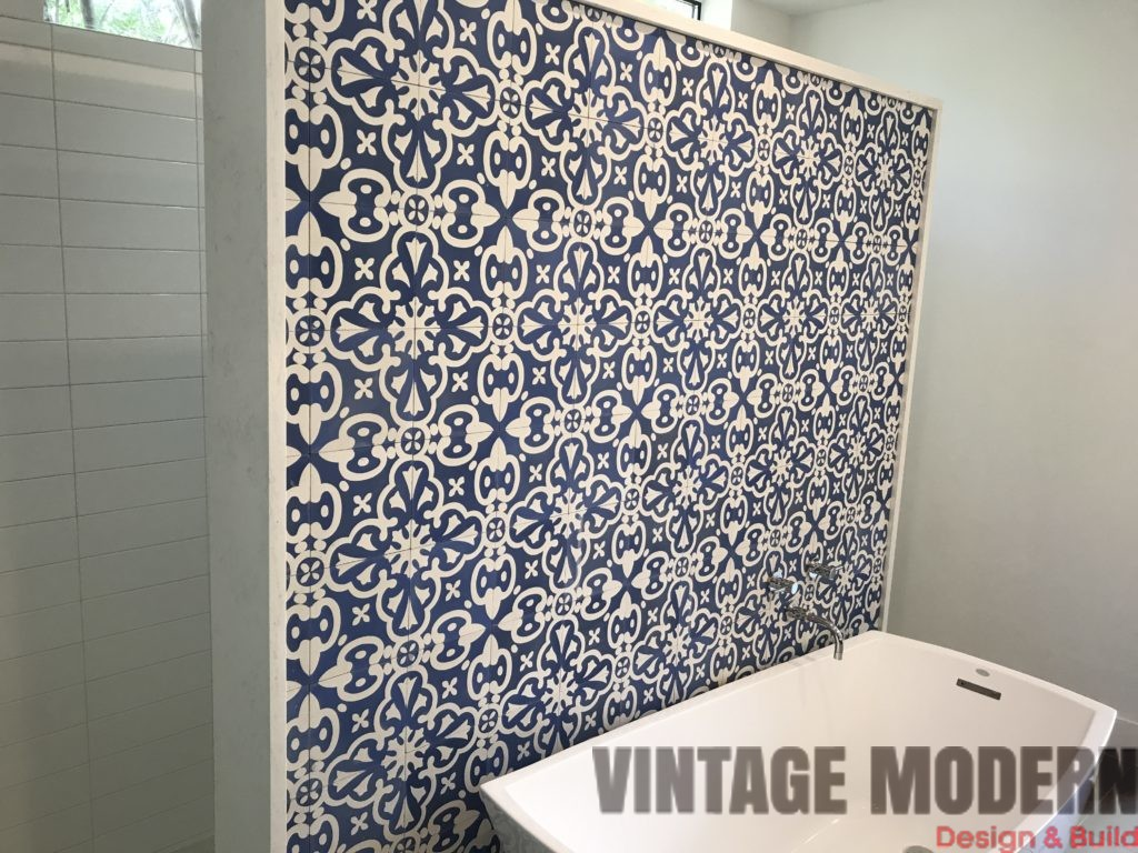 Modern Bathroom Remodeling Project Walk in Shower Austin Tx