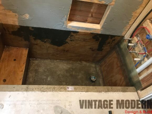Bathroom remodeling sunken Fiberglass shower contractor Austin TX