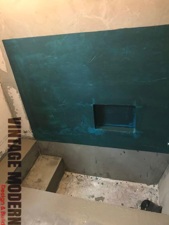 Bathroom remodeling sunken shower contractor Austin TX