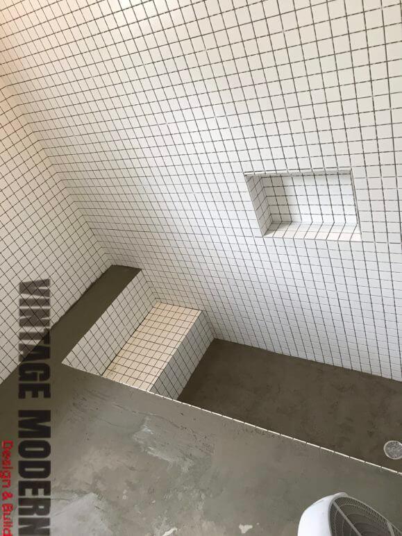 custom sunken shower contractor austin TX