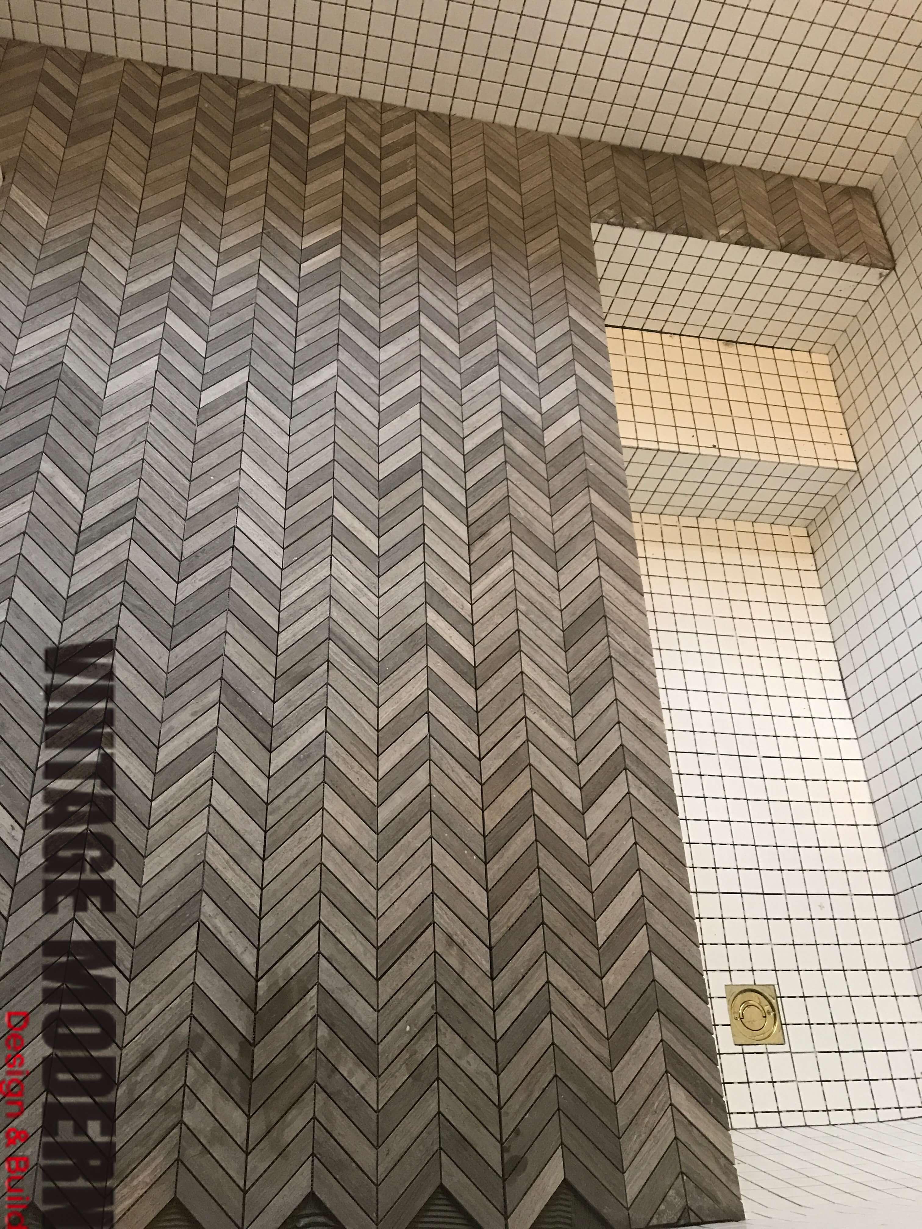 Sunken Shower Tile Roman Tub Bathroom Remodeling Project
