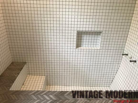Sunken Shower / Tile Roman Tub Bathroom Remodeling Project ...