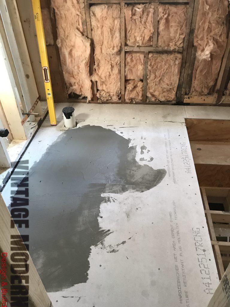 Sunken Shower Bathroom Remodeling Project Austin Tx
