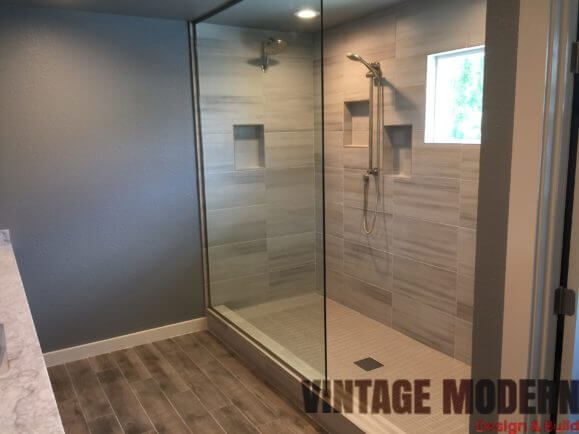 Minimalist Modern Transitional Bathroom Remodeling Project in austin Tx
