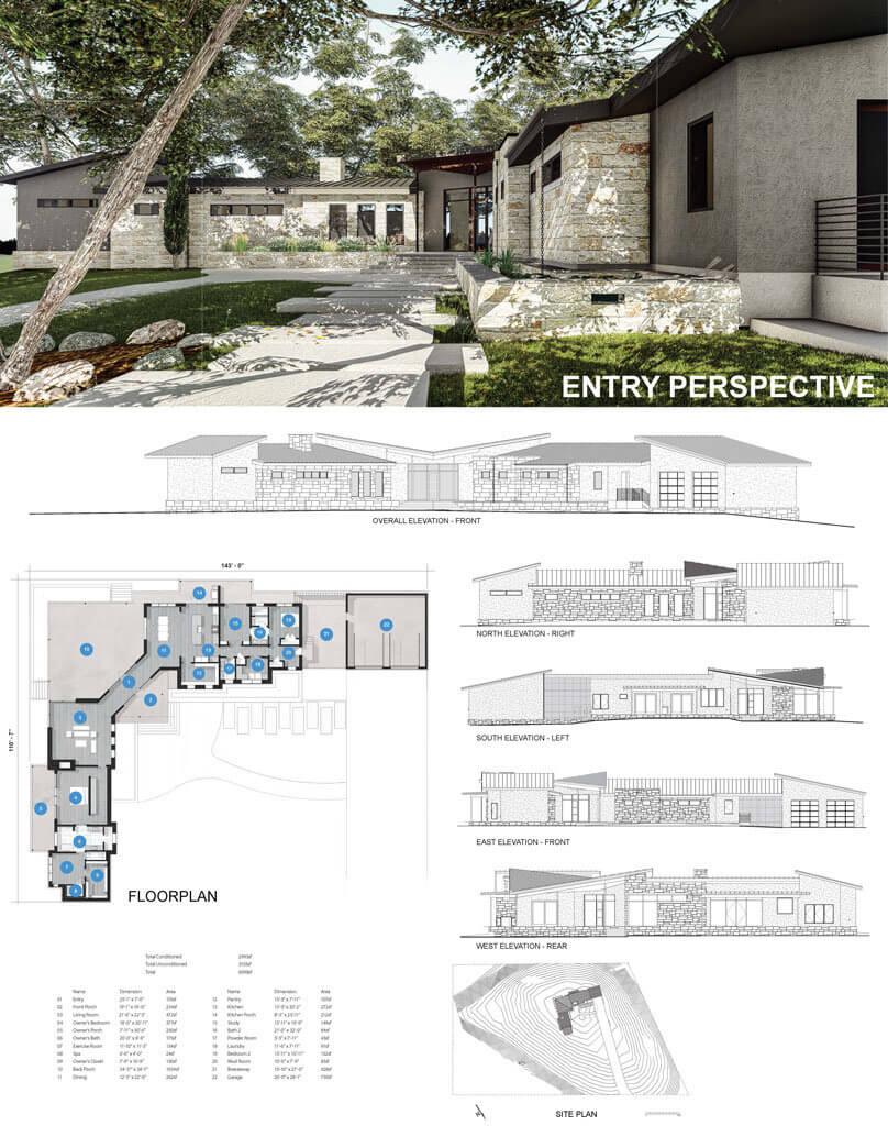 Mid century modern homes Austin TX