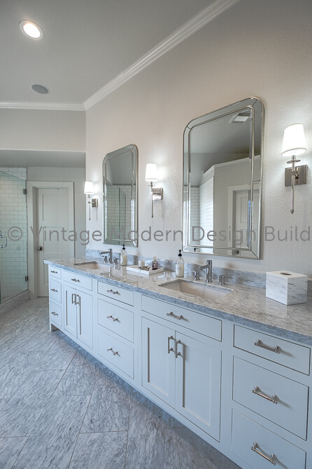 Victorian Transitional Bath remodel austin