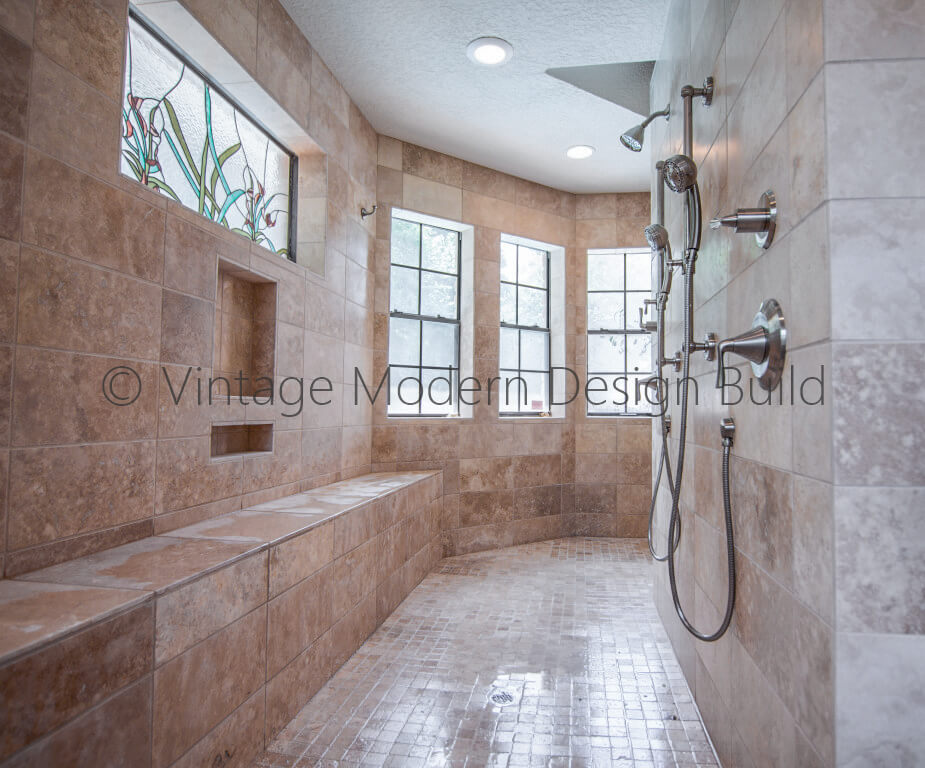 Walk in shower bathroom remodeling contractor Austin TX