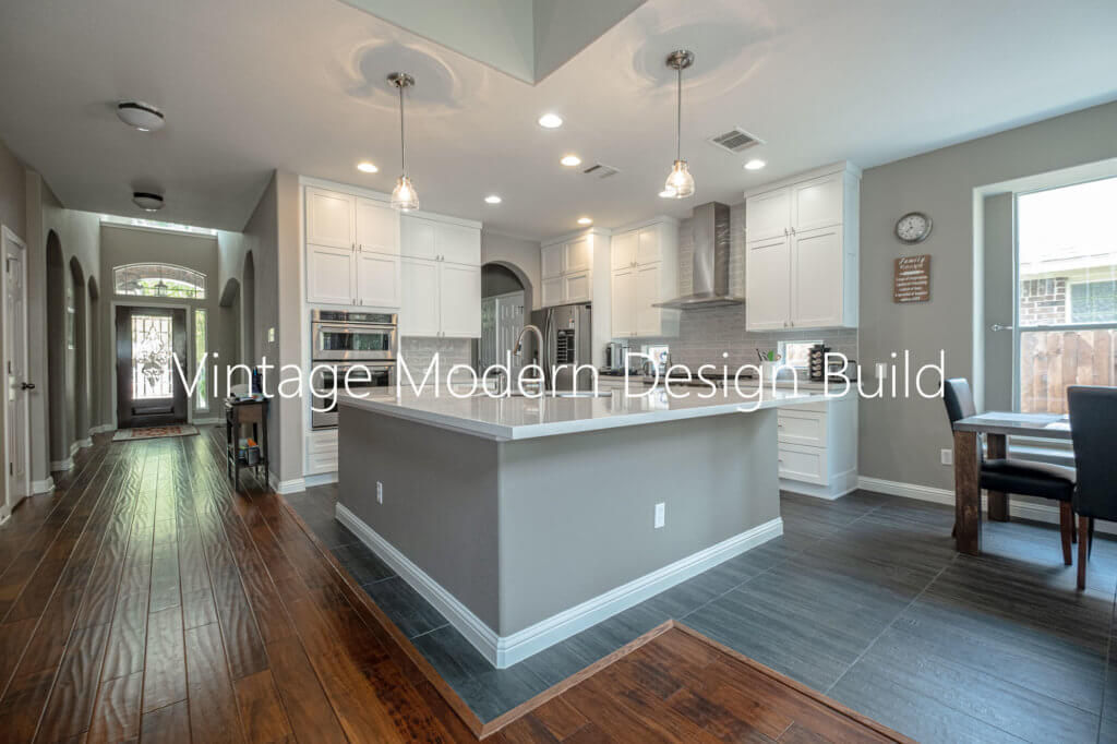 Open Plan Shaker Kitchen Remodel Austin Texas