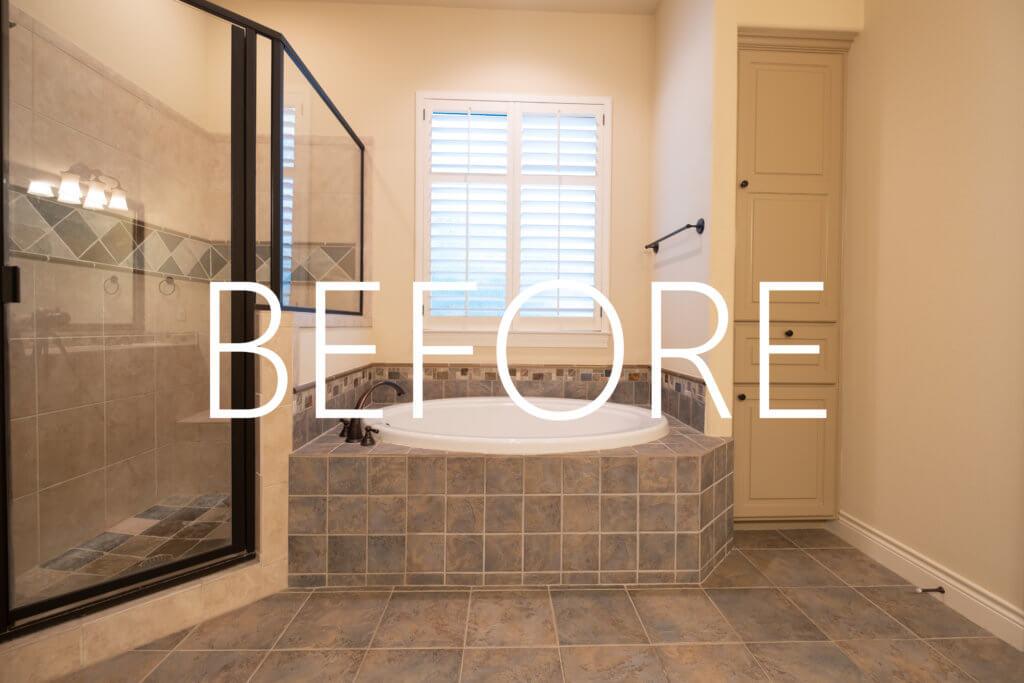 Calacatta Marble Master Bathroom remodel Austin, TX