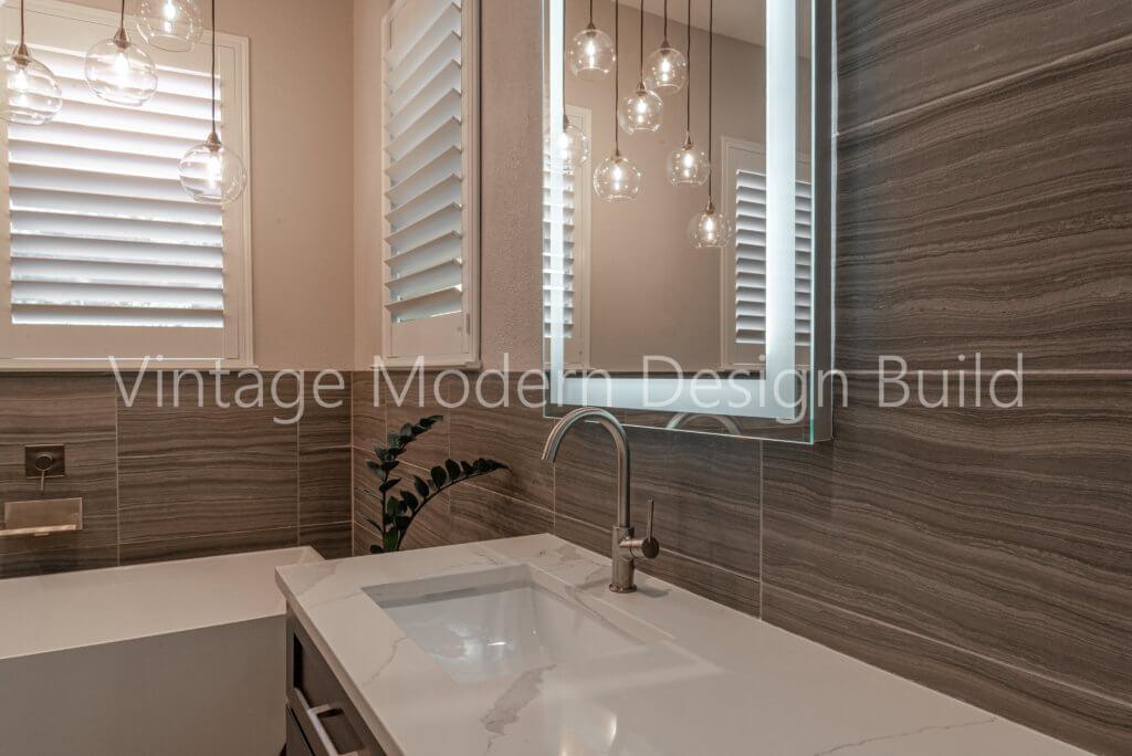 Minimalist modern Bathroom Remodeling Austin TX / West Lake Hills TX