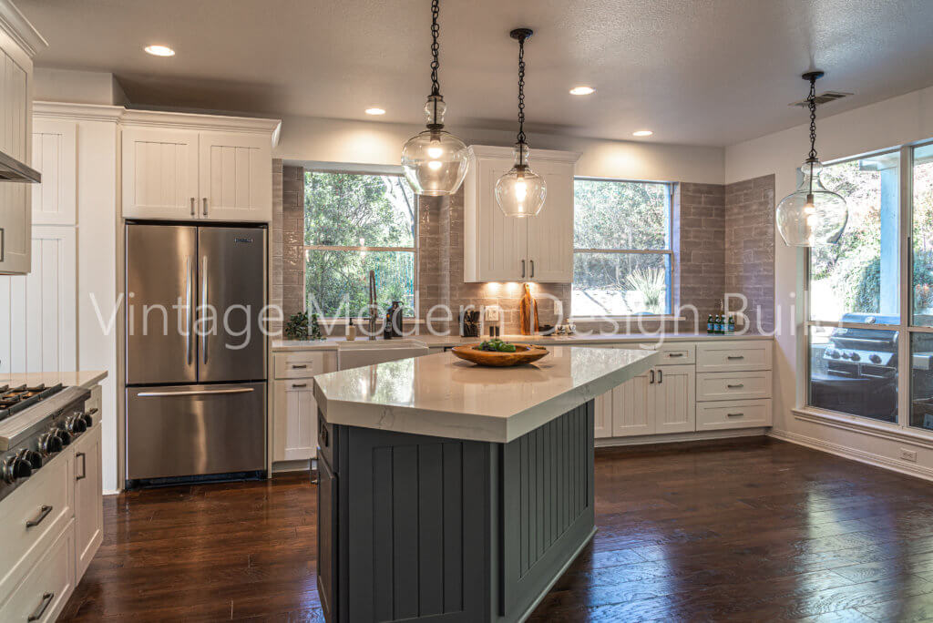 Austin TX Farmhouse kitchen remodeling project Lakeway TX