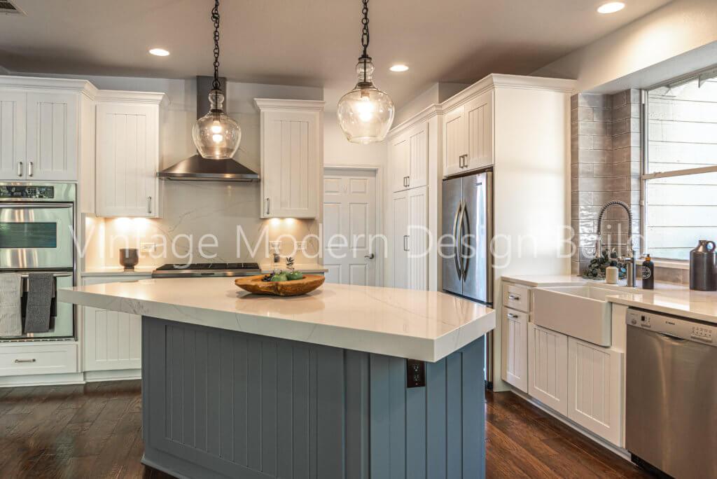 Austin TX Farmhouse kitchen remodeling project Lakeway TX