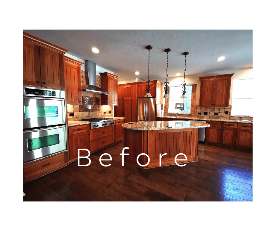farm style kitchen remodeling project Austin TX before