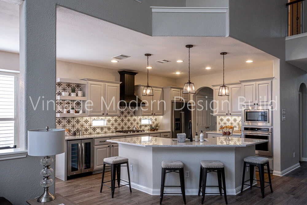 Modern Transitional Farmhouse Kitchen Remodeling Austin